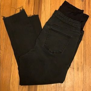 Maternity jeans black distressed